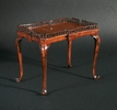 Chippendale scroll foot tea table