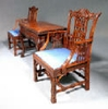 George II card table & chairs