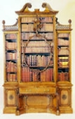 "Chippendale ""violin"" bookcase"